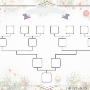 шаблон схема новогодний